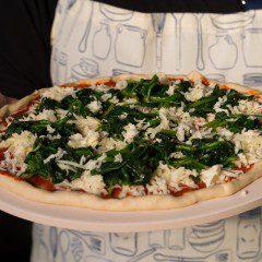 Home made pizza á la lactosevrij