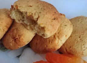 Suiker-, gluten- én lactosevrije abrikozen-kokoskoekjes