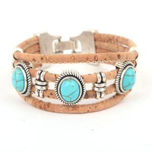 kurken armband in boho stijl bij dk shop van duurzaamheidskompas