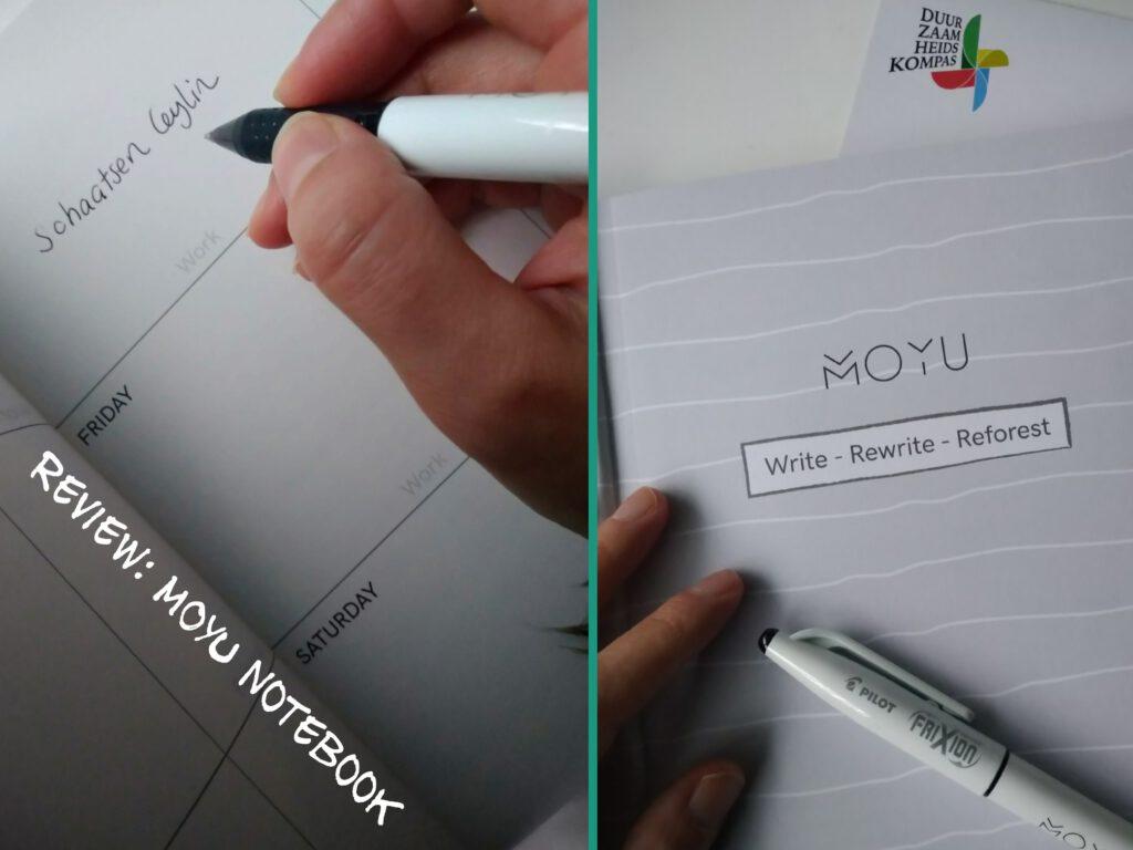 geeft een impressie van de binnenkant van MOYU Notebook gemaakt van steenpapier