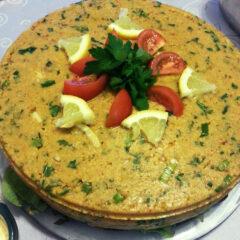 Vegetarische linzen taart
