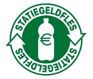 statiegeldlogo op kleine plastic flesjes - duurzaam nieuws op duurzaamheidskompas