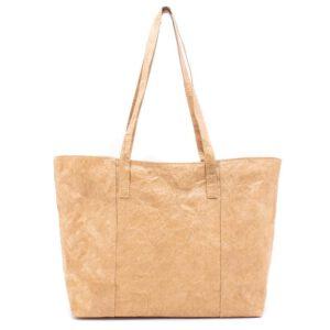 Duurzame handtas gemaakt van wasbaar kraftpapier als alternatief voor leer / dkshop van duurzaamheidskompas