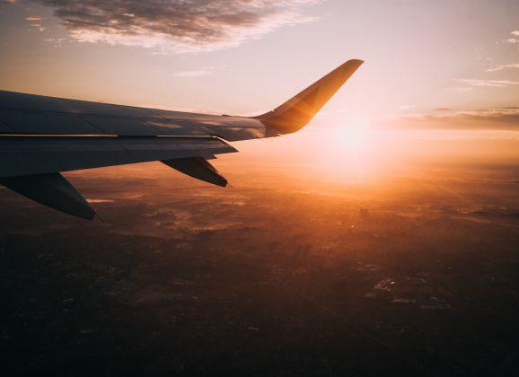 Reiziger met vliegschaamte